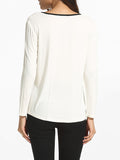 ByChicStyle V Neck Cotton Blouse - Bychicstyle.com
