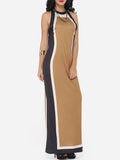 ByChicStyle Casual Assorted Colors Vintage Trendy Crew Neck Maxi Dress