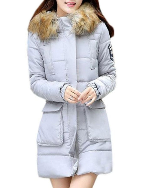 Casual Plain With Pockets Trendy Hooded Overcoats