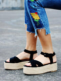 ByChicStyle Ankle Strap Platform Sandals