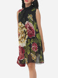ByChicStyle Floral Printed Courtly Shift Dress - Bychicstyle.com