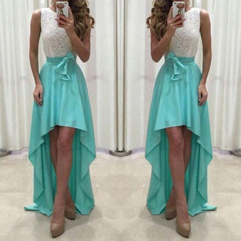 Casual Green Patchwork Bow Round Neck Party Polyester Maxi Dress