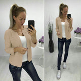 ByChicStyle Khaki Pearl Long Sleeve Casual Acrylic Cardigan Sweater