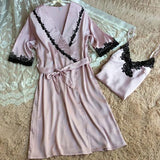 ByChicStyle Casual Pink Patchwork Lace 2-in-1 Belt Mini Dress