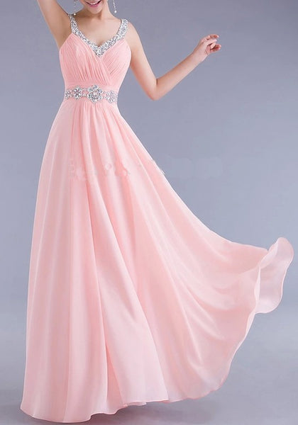 Pink Patchwork Spaghetti Strap Draped Backless V-neck Sleeveless Elegant Maxi Dress