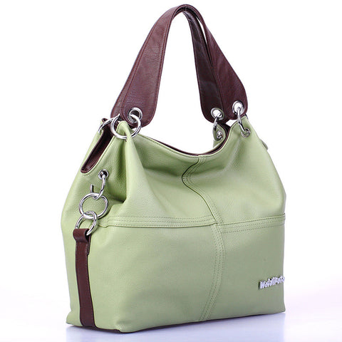 Women Vintage Versatile Handbag Zipper messenger bag/ Splice grafting Shoulder Crossbody Bags