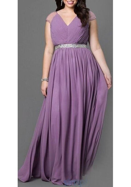 Casual Purple Sequin Pleated Draped V-neck Sleeveless Elegant Plus Size Party Maxi Dress