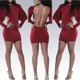 ByChicStyle Casual New Women Plain Cut Out Collarless Cotton Mini Dress