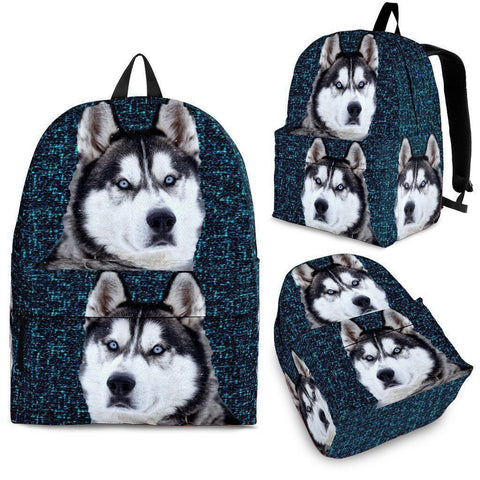 Siberian Husky Dog Print Backpack-Express Shipping-Paww-Printz-Merchandise