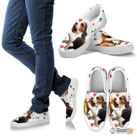 Beagle-Dog Slip Ons Shoes For Women_Free Shipping-Paww-Printz-Merchandise