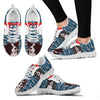 Border Collie Dog Print Christmas Running Shoes For Women-Free Shipping-Paww-Printz-Merchandise