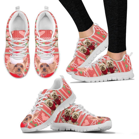Yorkshire Terrier Christmas Running Shoes For Women- Free Shipping-Paww-Printz-Merchandise