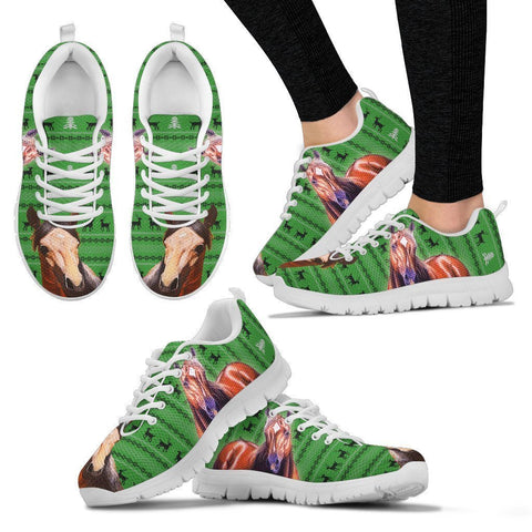 American Quarter Horse Print Christmas Running Shoes For Women- Free Shipping-Paww-Printz-Merchandise