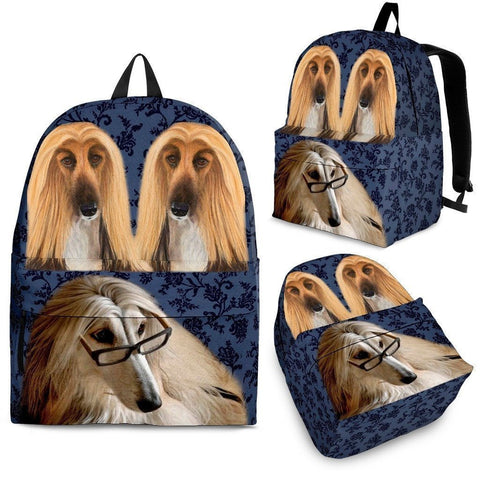 Afghan Hound Dog Print Backpack-Express Shipping-Paww-Printz-Merchandise