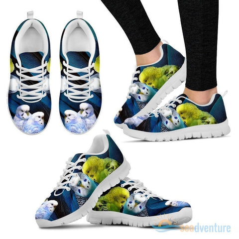 Budgerigars Parrot Print Running Shoe For Women- Free Shipping-Paww-Printz-Merchandise