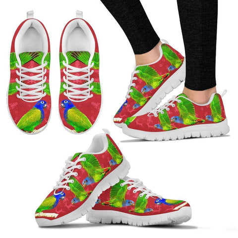 Blue-Headed Parrot Christmas Running Shoes For Women- Free Shipping-Paww-Printz-Merchandise