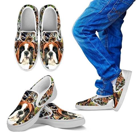 Amazing Boxer Dog Print Slip Ons For Kids-Express Shipping-Paww-Printz-Merchandise
