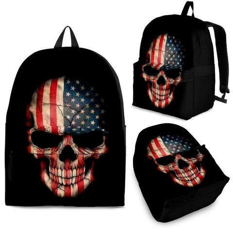 American Flag Skull BackPack - Free Shipping-Paww-Printz-Merchandise