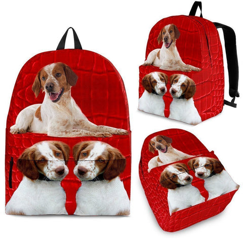 Brittany Dog Print Backpack-Express Shipping-Paww-Printz-Merchandise