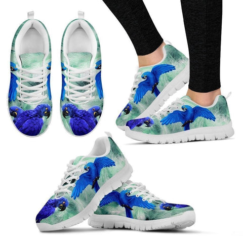 Hyacinth Macaw Parrot Running Shoes For Women-Free Shipping-Paww-Printz-Merchandise