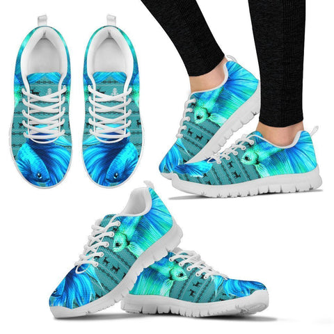 Betta Fish(Siamese Fighting Fish) Print Christmas Running Shoes For Women- Free Shipping-Paww-Printz-Merchandise