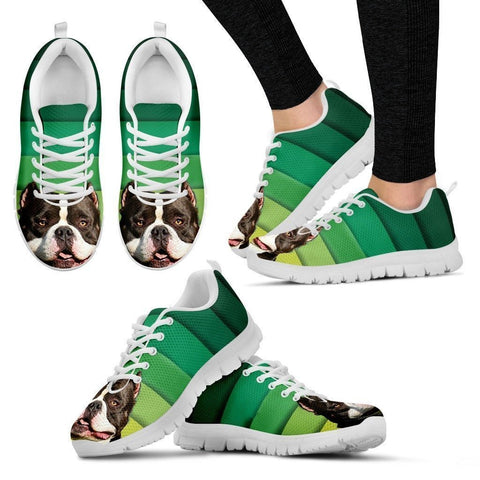 American Bulldog Running Shoes For Women-Free Shipping-Paww-Printz-Merchandise