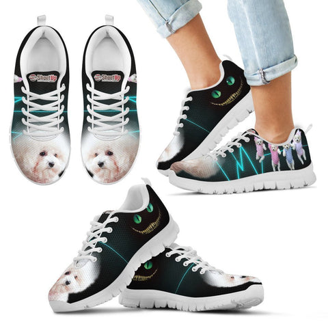 Bichon Frise Halloween Print Running Shoes For Kids- Free Shipping-Paww-Printz-Merchandise