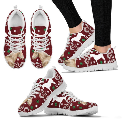Belgian horse Print Christmas Running Shoes For Women-Free Shipping-Paww-Printz-Merchandise