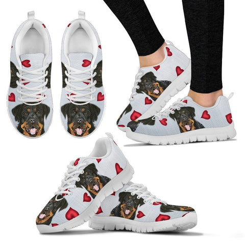 Valentine's Day Special-Rottweiler Print Running Shoes For Women-Free Shipping-Paww-Printz-Merchandise