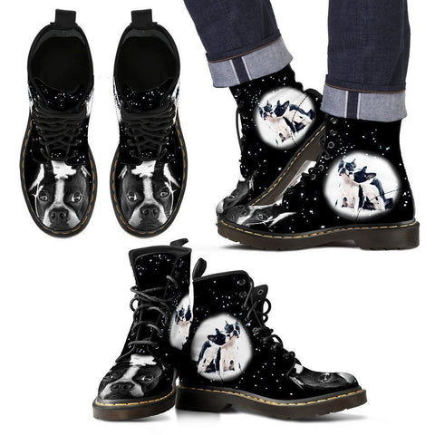 Boston Terrier Boots For Men- Express Shipping-Paww-Printz-Merchandise