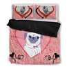 Valentine's Day Special-Pug Print Bedding Set-Free Shipping-Paww-Printz-Merchandise