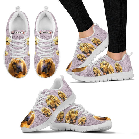 Amazing Bloodhound Dog-Women's Running Shoes-Free Shipping-Paww-Printz-Merchandise