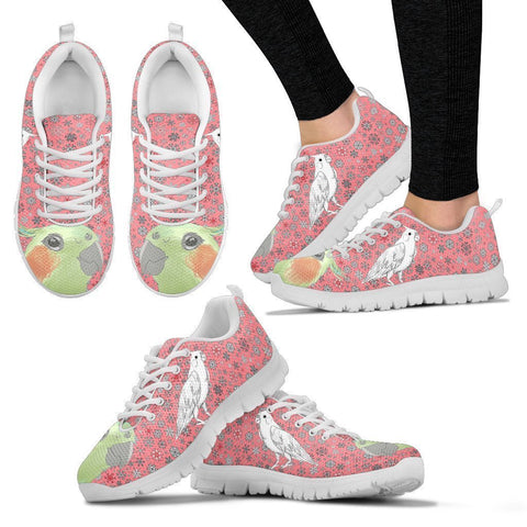 Cockatiel Parrot Print Christmas Running Shoes For Women-Free Shipping-Paww-Printz-Merchandise