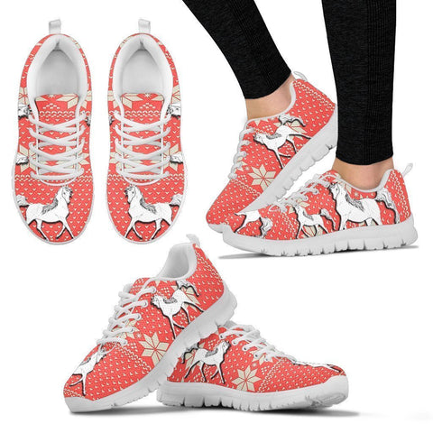 Anglo Arabian Horse Christmas Running Shoes For Women- Free Shipping-Paww-Printz-Merchandise