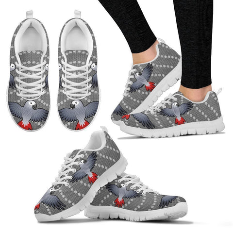 Flying African Grey Parrot Christmas Print Running Shoes For Women-Free Shipping-Paww-Printz-Merchandise