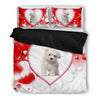 Valentine's Day Special-Maltese Dog Print Bedding Set-Free Shipping-Paww-Printz-Merchandise