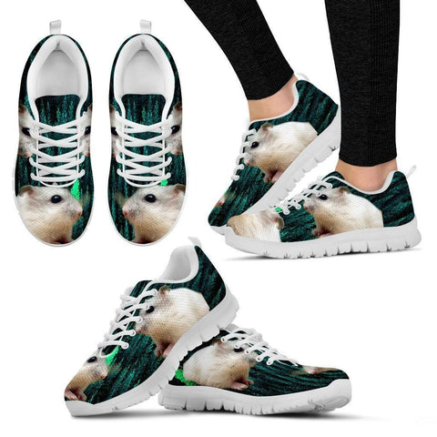 Dwarf Hamster Printed (White) Running Shoes For Women-Free Shipping-Paww-Printz-Merchandise