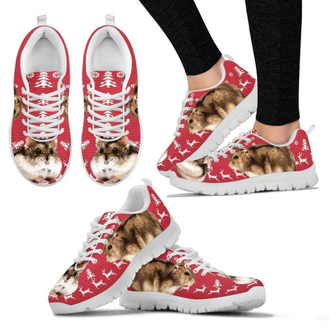 Campbell's Dwarf Hamster Print Christmas Running Shoes For Women- Free Shipping-Paww-Printz-Merchandise