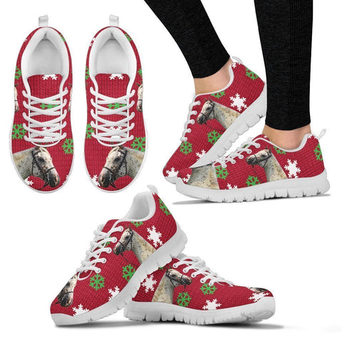 Appaloosa Horse Print Christmas Running Shoes For Women-Free Shipping-Paww-Printz-Merchandise