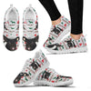 Angeln Saddleback Pig Print Christmas Running Shoes For Women-Free Shipping-Paww-Printz-Merchandise