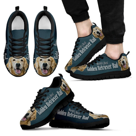 'World's Best Golden Retriever Dad' Running Shoes-Father's Day Special-Paww-Printz-Merchandise