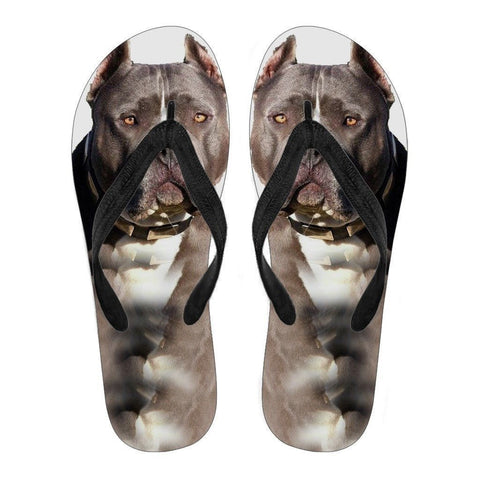 Pitbull Flip Flops For Women- Free Shipping-Paww-Printz-Merchandise