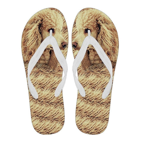 Poodle Flip Flops For Men-Free Shipping Limited Edition-Paww-Printz-Merchandise