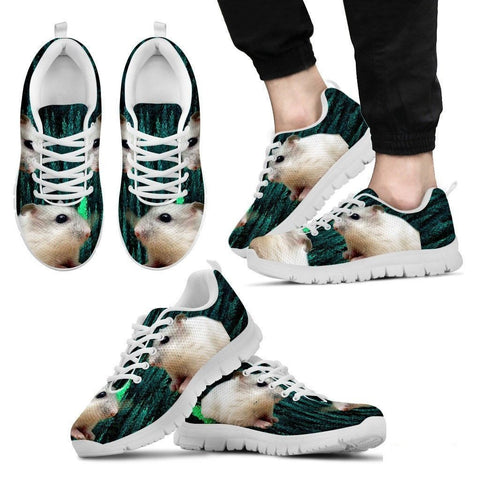 Dwarf Hamster Printed (White) Running Shoes For Men-Free Shipping Limited Edition-Paww-Printz-Merchandise