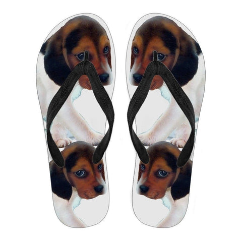 Beagle Puppy Flip Flops For Men-Free Shipping Limited Edition-Paww-Printz-Merchandise