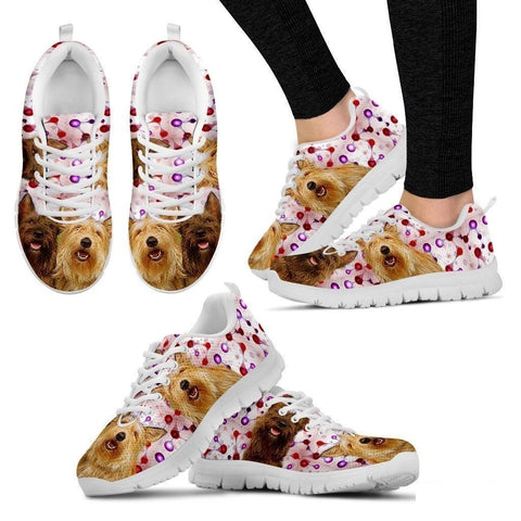 Berger Picard Dog (White/Black) Running Shoes For Women-Free Shipping-Paww-Printz-Merchandise