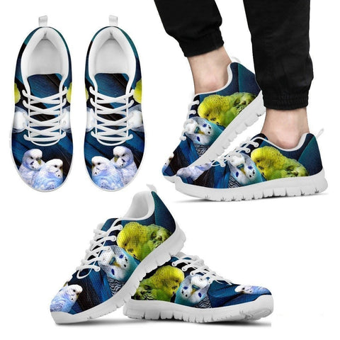 Budgerigars Parrot Print Running Shoe For Men- Free Shipping-Paww-Printz-Merchandise