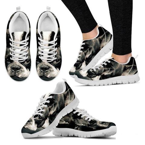 Boston Terrier (Dog) Print Running Shoe Women- Free Shipping-Paww-Printz-Merchandise
