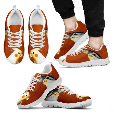 Cockatiel Parrot Print Running Shoes For Men-Free Shipping-Paww-Printz-Merchandise