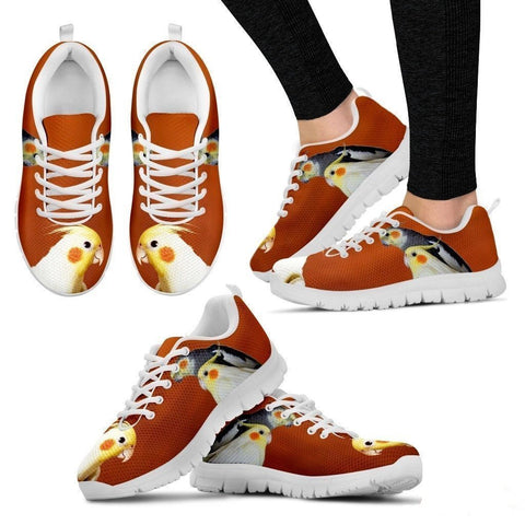 Cockatiel Parrot Print Running Shoes For Women-Free Shipping-Paww-Printz-Merchandise